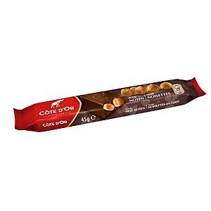 COTE D'OR 32 paquetsBarre de chocolat noir Côte d'Or avec noisettes entières - 45 g
