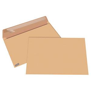 COURONNE 250 enveloppes commerciales, kraft, format #24, 260 mm, fermeture autocollante, brun