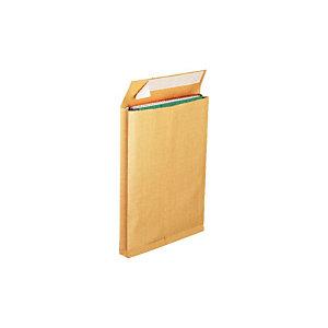 COURONNE Bte 25 enveloppes pour catalogue, kraft, 30 x 275 x 365 mm, fermeture autocollante, brun