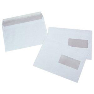 LA COURONNE Enveloppe blanche C5 162 x 229 mm 80g avec fenêtre - bande autoadhésive