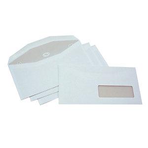 LA COURONNE Enveloppe blanche pour mise sous pli automatique 115 x 225 mm avec fenêtre 80g fermeture gommée