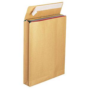 Couronne Enveloppe pour catalogue, kraft, format #24, 330 x 260 mm, fermeture autocollante avec bande protectrice, brun