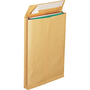 LA COURONNE Enveloppe pour catalogue kraft format international C4 50 x 229 x 324 mm 130 g/m² fermeture autocollante avec bande protectrice brun