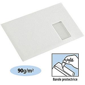 LA COURONNE Enveloppe vélin format C4 229 x 324 mm avec fenêtre 90 g/m² fermeture autocollante avec bande protectrice blanc