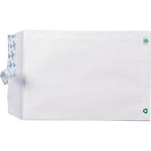 LA COURONNE Pochette administrative recyclée blanche - 229 x 324 mm - Avec fenêtre 50 x 110 - 90 g/m² - Boîte de 250
