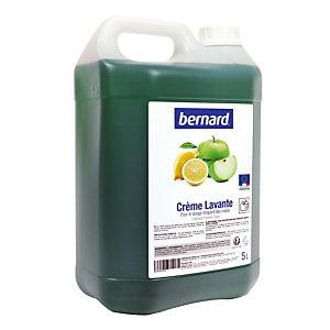 Crème lavante Bernard parfum pomme-citron, bidon de 5 L