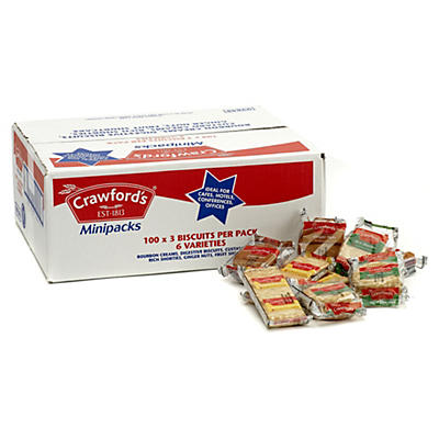 Crawfords Assorted Biscuit Mini Triple Packs - Box of 100