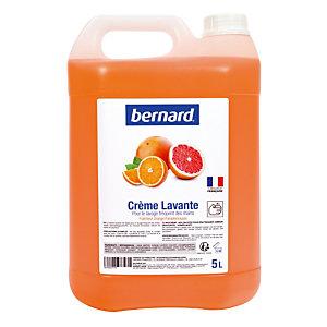 Crème lavante Bernard parfum orange-pamplemousse, bidon de 5 L