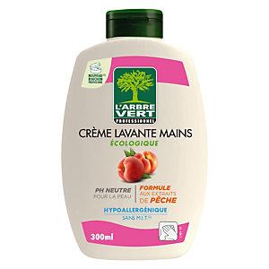 Crème lavante mains L'Arbre Vert parfum pêche, lot de 6 flacons de 300 ml