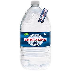 CRISTALINE Eau minérale plate, bouteille plastique, 5 l