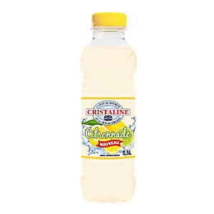 CRISTALINE Eau plate aromatisée, parfum citron - 6 bouteilles de 50 cl