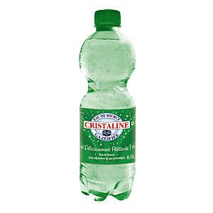 CRISTALINE Eau de source naturelle gazeuse,lot de 24 bouteilles 50 cl