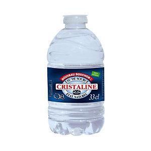 CRISTALINE Eau de source naturelle plate - bouteille 33 cl