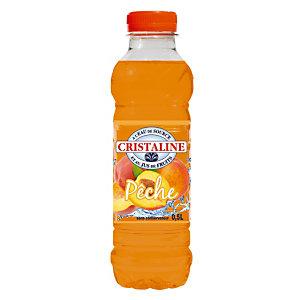 CRISTALINE Gearomatiseerd plat water, perziksmaak - flesje van 50 c