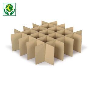 Croisillon carton pour verre, bouteilles, assiettes et déménagement