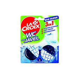 La Croix Bloc WC LACROIX - 3en1 - Chasse d'eau -  Eau bleue et Javel