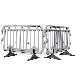 HDPE crowd barriers are a simple, lightweight alternative