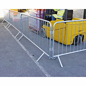 Metal barriers: great for demarcating traffic and pedestrian zones and crowd control