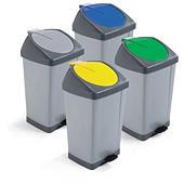 Cubo para residuos con tapa basculante y pedal