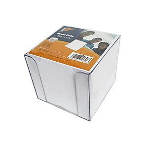 Cubo per appunti con dispenser, Bianco