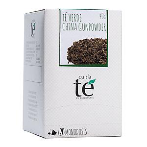 Cuida té China Gunpowder Té verde, 20 bolsitas, 50 g