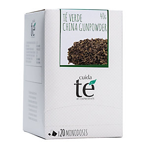 Cuida té China Gunpowder Té verde, 20 bolsitas, 50 g