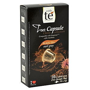 Cuida té Earl Grey Té negro en cápsulas, 10 dosis, 30 g