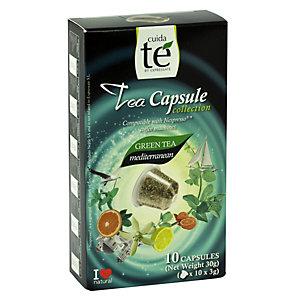 Cuida té Mediterranean Té verde en cápsulas, 10 dosis, 30 g