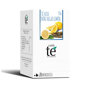 Cuida té Nori Algas Lemon Té azul, 20 bolsitas, 50 g