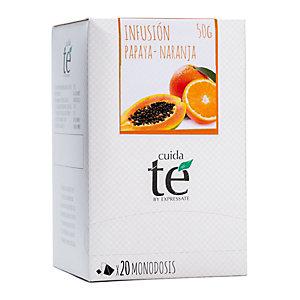 Cuida té Papaya y Naranja Infusión, 20 bolsitas, 50 g