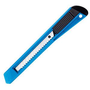 Cutter avec corps plastique lame rétractable bleu lame 9 mm