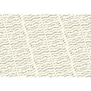 Da Vinci Carta da regalo in fogli, Fantasia Note musicali, 80 g/m², 70 x 100 cm (confezione 5 pezzi)