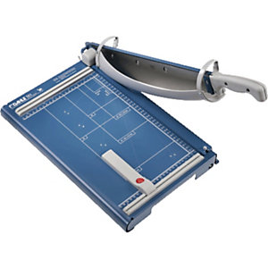 Dahle Professional Guillotina de oficina, placa protectora giratoria, 360 mm, materiales diversos, azul
