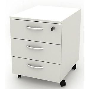 Daily Cassettiera a 3 cassetti, su ruote, 41 x 50 x 52,2 cm, Bianco