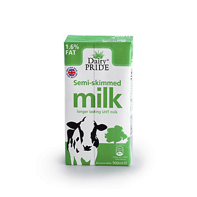 Dairy Pride Semi-Skimmed 500ml UHT Milk – Pack of 12