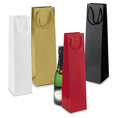 Darčekové tašky na fľašky z lakovaného papiera