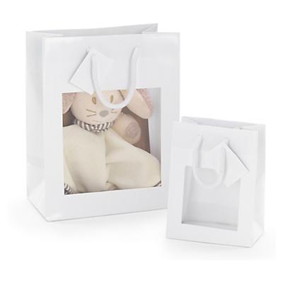 Darčekové tašky s okienkom z lakovaného papiera