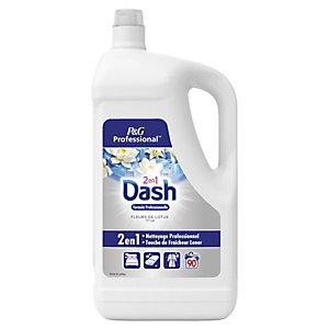 DASH Professional 2 en 1 - Lessive liquide - Parfum lotus et lys - Bidon de 90 doses