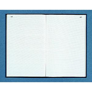Dauphin Registre toilé folioté 22,5X35 cm, 200 pages quadrillées 5x5 - Couverture noire