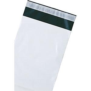 Debatin DEBAPOST™ Bolsas de plástico premium para envío por correo, 325 x 400mm, sello único, blanco, paquete de 100
