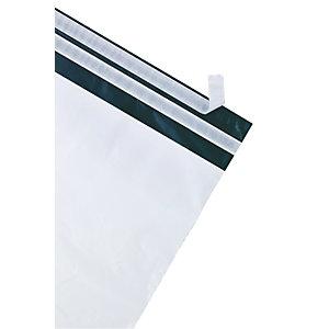 Debatin DEBAPOST™ Bolsas de plástico premium para envío por correo, 340 x 420mm, sello doble, blanco, paquete de 100