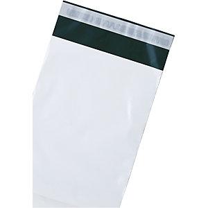 Debatin DEBAPOST™ Bolsas de plástico premium para envío por correo, 340 x 420mm, sello único, blanco, paquete de 100