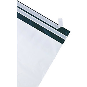 Debatin DEBAPOST™ Bolsas de plástico premium para envío por correo, 390 x 430mm, sello doble, blanco, paquete de 100