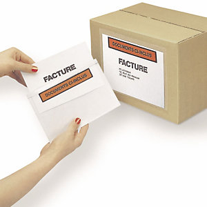 Debatin Pochettes d'envoi porte-documents auto-adhésives Unipack C5 240 x 180 mm, boîte de 1 000 (Lot de 1000)