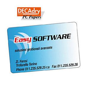 DECAdry Biglietti da visita colorati a bordo liscio angoli arrotondati - colore: ciano - 200g/mq (confezione 120 pezzi)
