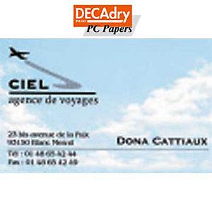 DECAdry Biglietti da visita colorati microperforati - Cielo - 185 g/mq (confezione 120 pezzi)