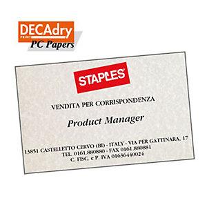 DECAdry Biglietti da visita colorati microperforati - Pergamena grigio - 165 g/mq (confezione 120 pezzi)