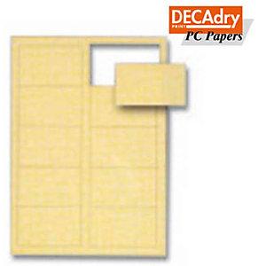 DECAdry Biglietti da visita - Pergamena oro - 165 g/mq (confezione 120 pezzi)