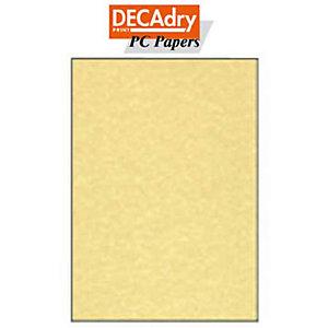 DECAdry Carta da lettere A4 per Fotocopiatrici, Stampanti Laser e Inkjet, 95 g/m², Pergamena Oro (confezione 25 fogli)
