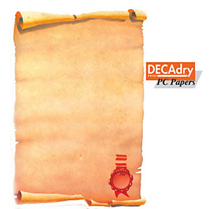 DECAdry Carta a tema A4 per Fotocopiatrici, Stampanti Laser e Inkjet, 80 g/m², Pergamena (confezione 25 fogli)